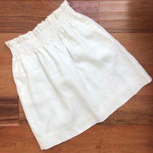 Jcrew white linen sidewalk skirt - Sz 2